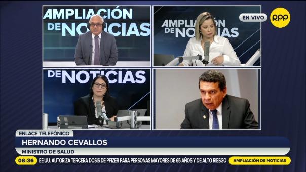Hernando Cevallos, ministro de Salud.