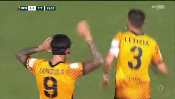 Gol de Gianluca Lapadula ante el Cittadella.