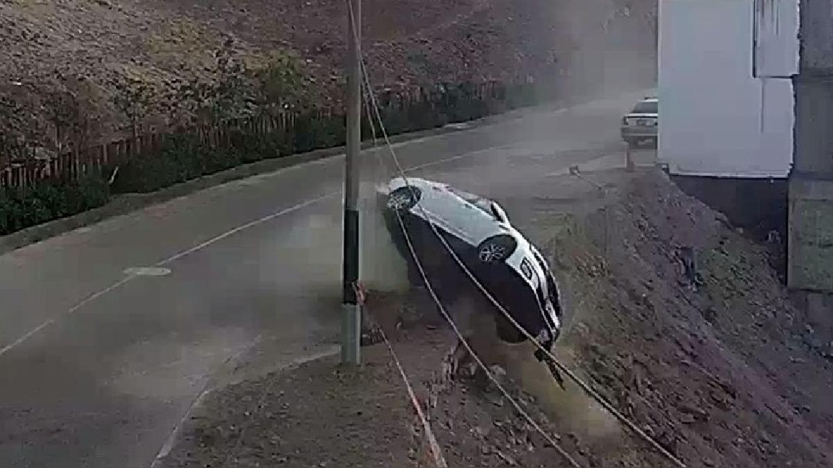 El conductor salvó de morir milagrosamente.