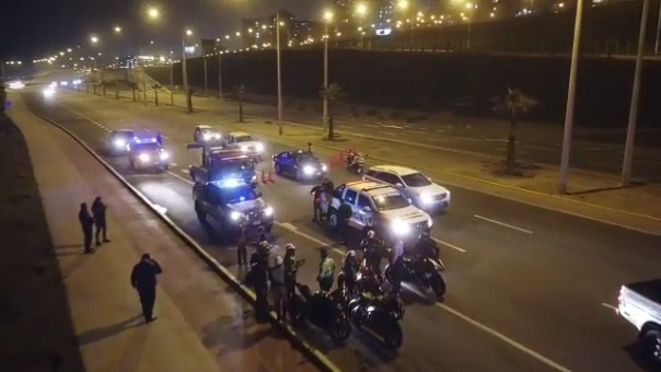 Alrededor de 20 motociclistas fueron intervenidos.