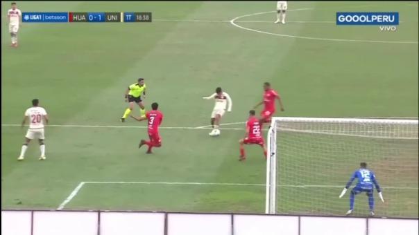 Así fue el gol de Piero Quispe de Universitario ante Sport Huancayo