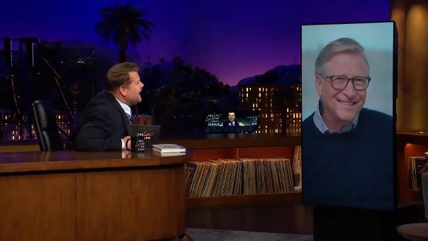 En entrevista con James Corden, Bill Gates responde al turismo espacial