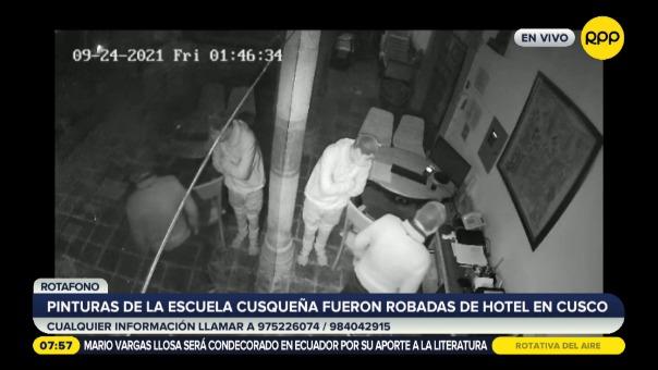 Pinturas de la escuela cusqueña fueron robadas en hotel en Cusco