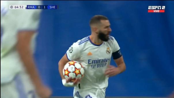 Así fue el gol de Karim Benzema  de Real Madrid  1-1 Sheriff por Champions League