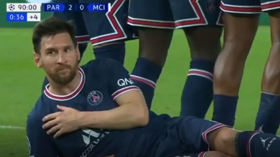 Así fue la acción del 'cocodrilo' de Lionel Messi contra el City.
