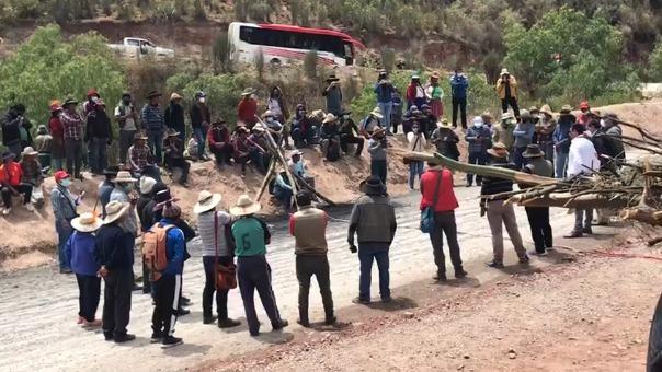 Los pobladores de las comunidades de Chumbivilcas mantuvieron bloqueado el corredor minero hace 20 días.