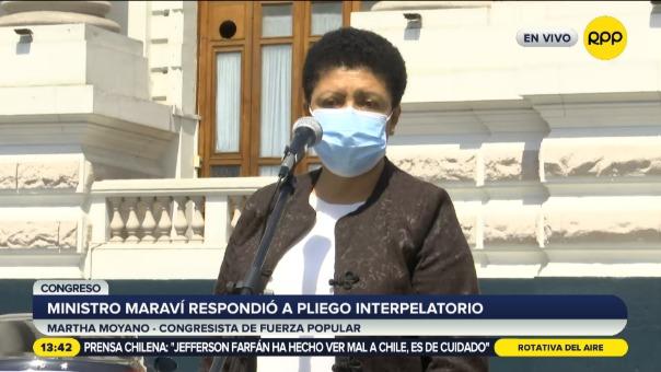Martha Moyano, congresista de la bancada de Fuerza Popular