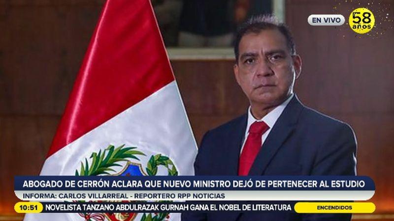 Luis Barranzuela es el nuevo ministro del Interior.