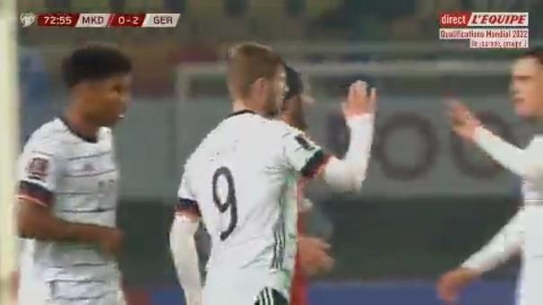 Gol de Alemania ante Macedonia.