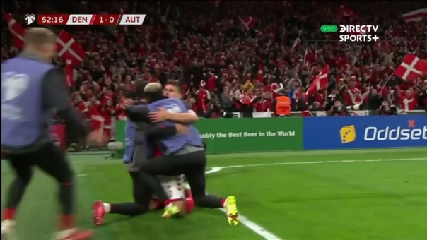 Así fue el gol de Joakim Maehle que le dio la clasificación de Dinamarca a Austria