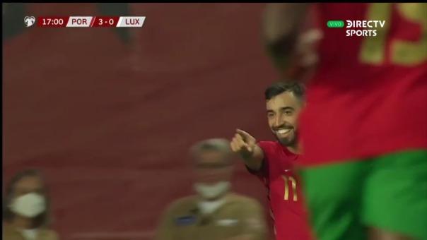 Así fue el gol de Bruno Fernandes de Portugal 3-0 Luxemburgo