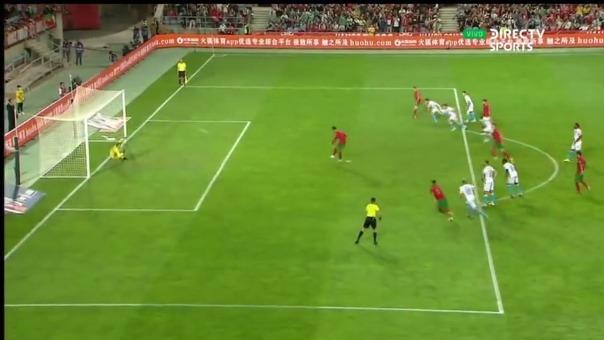Así fue el primer gol de Cristiano Ronaldo en el Portugal 1-0 Luxemburgo