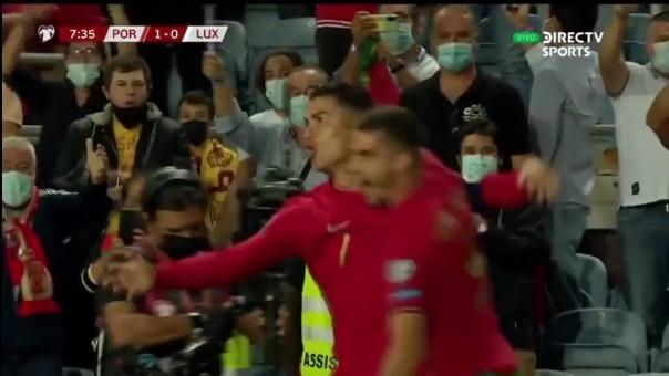Cristiano Ronaldo anotó el 1-0 de Portugal sobre Luxemburgo