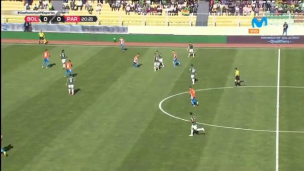 Rodrigo Ramallo anotó el 1-0 de Bolivia ante Paraguay