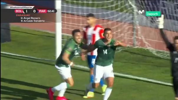 Moisés Villarroel marcó el 2-0 de Bolivia ante Paraguay