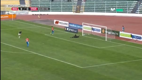 ¡Goleada! Roberto Fernández anotó el 4-0 de Bolivia sobre Paraguay
